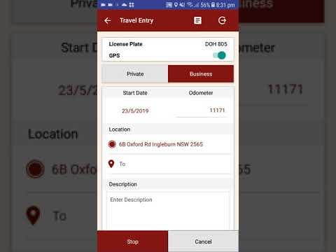 Justlogit.online - Mobile Application - Enter Travel with GPS Business Start