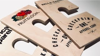 A Brand Woodworking Project | Custom Clothing Tags | Checkpoint One Apparel Corp.