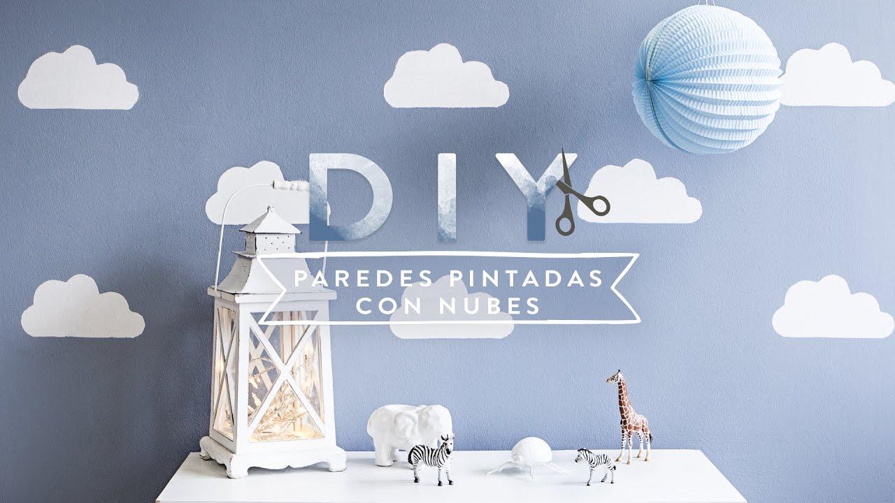 C mo pintar nubes en la pared con acabado profesional - Dibujos pared habitacion infantil ...