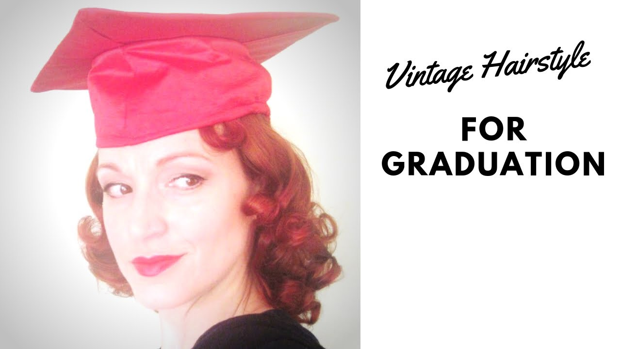 Graduation hairstyles for short hair with cap : By request vintage inspired graduation cap hairstyle