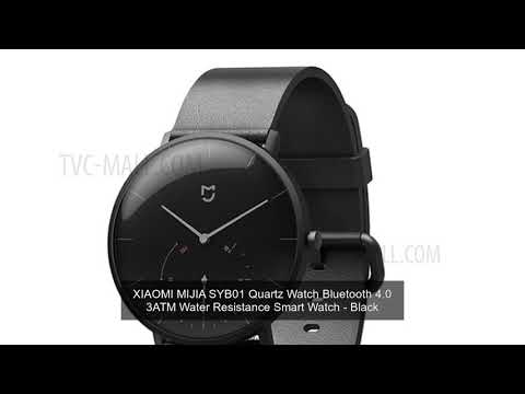 XIAOMI MIJIA SYB01 Quartz Watch Bluetooth 4.0 3ATM Water Resistance Smart Watch - Black