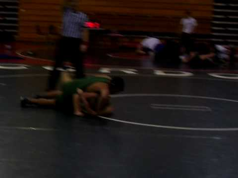 Jared wrestling at the Call of the Wild tournament, Cordova High School