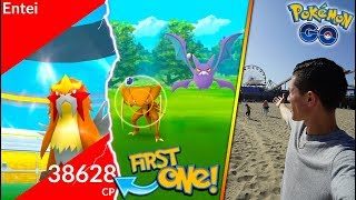 FIRST EVER AMERICAN ENTEI! BACK AT THE PIER + INSANE WILD SPAWNS IN POKÉMON GO!
