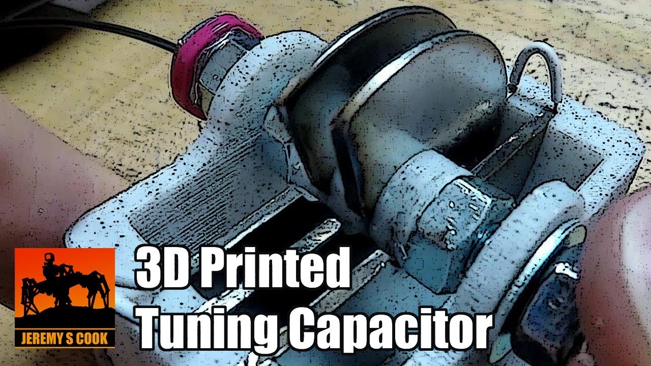 Variable Tuning Capacitor [3D-Printed]