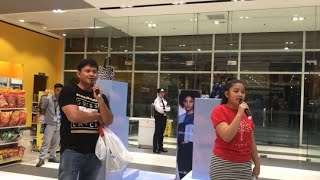 The Prayer Father-Daughter Duet ( Karaoke in SM Mall) ??