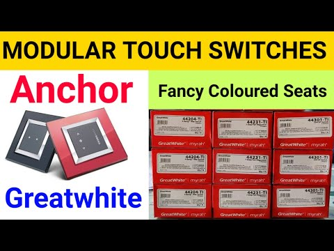 Best Touch Modular Switches Anchor Great White Myrah Modular Bijali Fitting Accessories