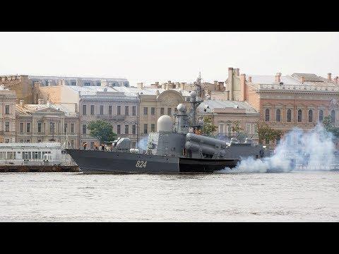 2018-07-23 - Уход РКА 'Моршанск' пр 12411 из Санкт-Петербурга