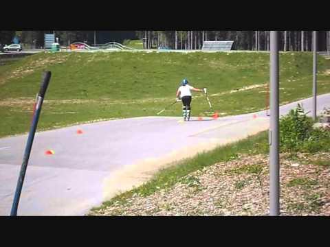 Maruša Ferk - Slalom on rollerblades, Pokljuka July 2013