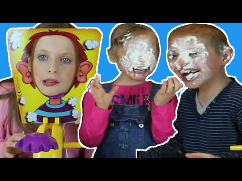 LITTLE SISTER DIDN'T SEE THIS COMING IN KIDS PIE FACE CHALLENGE