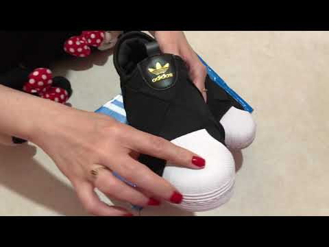 UNBOXING TÊNIS ADIDAS SUPERSTAR SLIP ON W