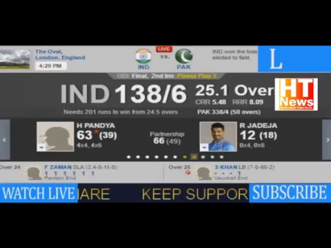 LIVE India Vs Pakistan | ICC Champions Trophy 2017 | Live Score | Live Hindi commentary | Final