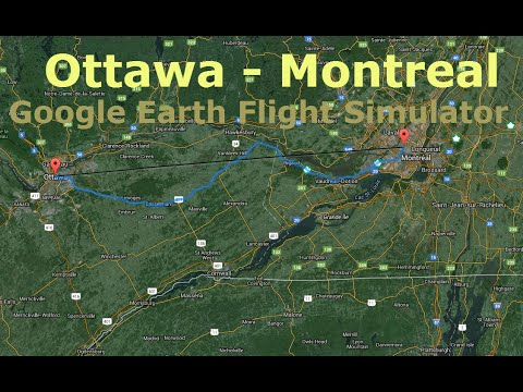 ottawa to montreal google earth flight simulator youtube. Black Bedroom Furniture Sets. Home Design Ideas