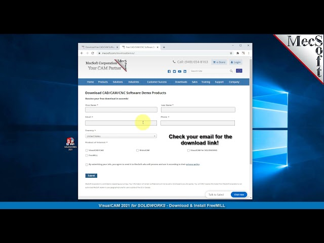 Download & Install Quick Start, FreeMILL 2021 for SOLIDWORKS