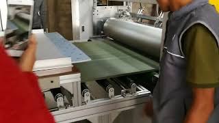 PUR laminating machine with automatic cutter