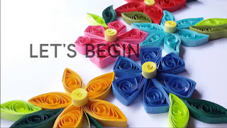 how to make simple paper quilling flowers? paper quilling for beginners