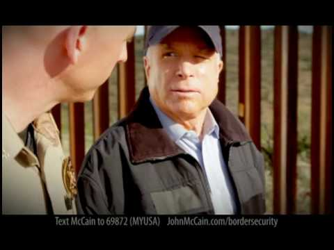 """McCain TV Ad: """"Complete The Danged Fence"""""""