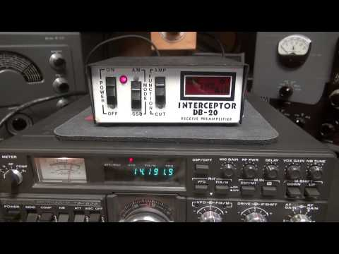 Interceptor DB-20 CB Radio Pre-amp ON the Air Indicator box demo