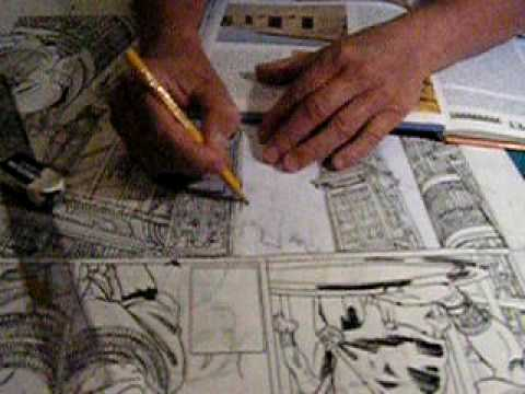 Comics artist Sussi Bech pencilling a picture from her upcoming graphic novel