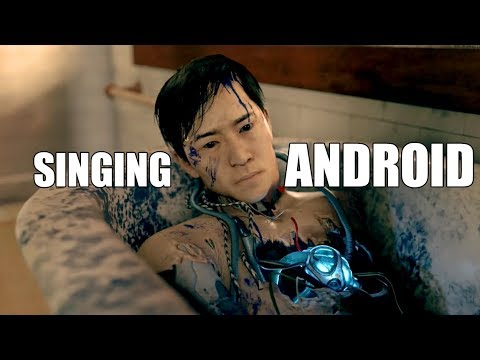 Detroit Become Human - Zlatko's Singing Android In The Bathroom