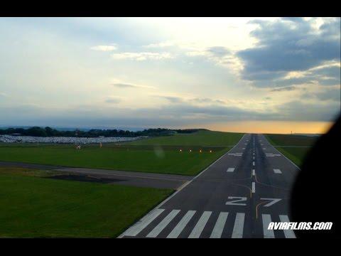 Boeing 737 cockpit landing Bristol airport
