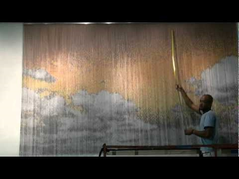KriskaDecor chain curtains in work at daisycake in Phoenix AZ