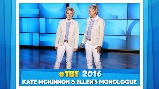 #TBT to Ellen & Kate McKinnon's Monologue