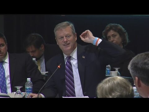New England governors & Canadian premiers discuss energy in Boston