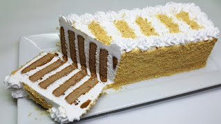 UNIQUE NO BAKE BISCUIT CAKE RECIPE - NO OVEN CAKE