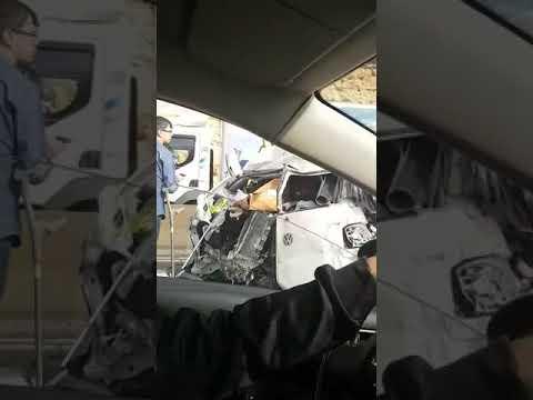 זירת התאונה הקשה בכביש 443 הבוקר
