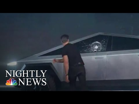Watch Tesla's Cybertruck Launch Go Terribly Wrong | NBC Nightly News