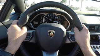 Lamborghini Aventador with Factory RACE Exhaust - Test Drive