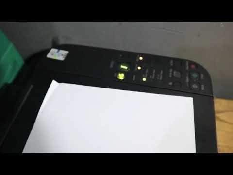 cara isi ulang menyuntik tinta warna dicartridge Printer canon mp287.