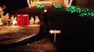 Christmas Train Yard Display