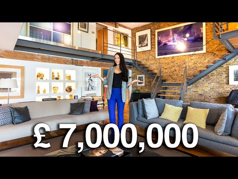 Touring a £7 Million London Luxury Flat (with its own boat) | London Flat Tours