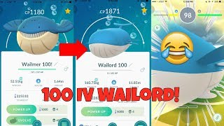 Evolving A 100 Iv Wailmer Into Wailord In Pokemon Go And Gym Play You