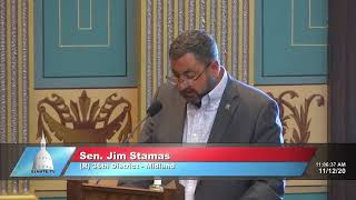 Sen. Stamas pays tribute to Harry H. Whiteley of Rogers City