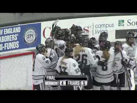 Friars vs. Vermont Hockey East Quarter Finals Game 1 Highlights