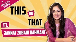 [6.50 MB] Jannat Zubair Rahmani Plays This Or That With India Forums | Fun Choices Revealed