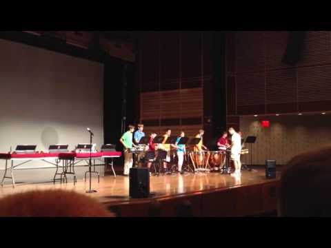 Knollcrest Music Camp Senior week Percussion Ensemble performing Three Brothers by Michael Colgrass
