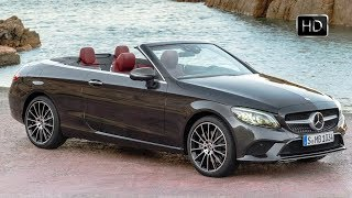 2019 Mercedes Benz C Class Cabriolet Exterior Interior Design & Driving Footage HD