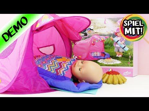 baby-born-lagerfeuer-set-|-camping-mit-puppe-mit-zelt,-schlafsack-+-loderndem-feuer-|sommer-urlaub