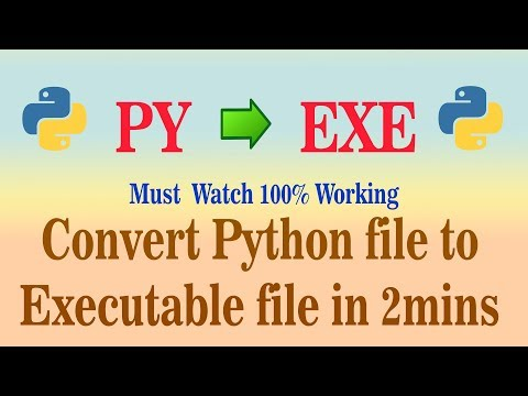 Convert py to exe, using cx_freeze python library (Easiest Way)