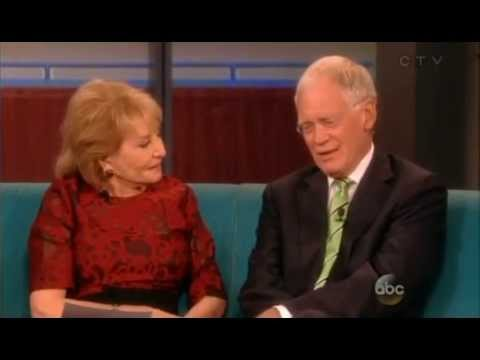 David Letterman Talks with Barbara Walters on The View Show