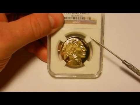 Counterfeit 2011-W 1 oz Gold Buffalo in a fake NGC slab