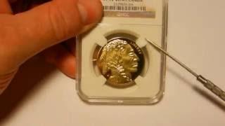 Counterfeit 2011-W 1 oz Gold Buffalo in a fake NGC slab