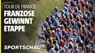 Tour de France, 8. Etappe: Ausreißergruppe bringt Vorsprung ins Ziel   Sportschau