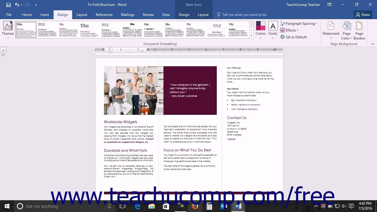 Word 2016 Tutorial Applying A Style Set Microsoft Training Youtube