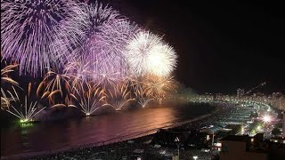 Rio de Janeiro welcomes the Olympic Year, 2016 New Year's Eve Fireworks