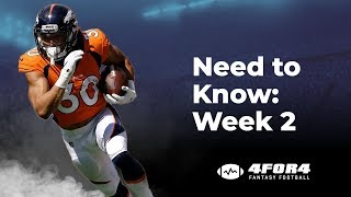 Fantasy Football Week 2: Everything You Need to Know