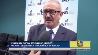 SE INSTALARÁ OFICINA REGIONAL DEL INSTITUTO NACIONAL DE ESTADÍSTICA E INFORMÁTICA EN HUACHO.